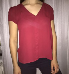 Блузка бордовая H&M