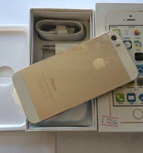 iPhone 5s 16Gb Gold (новый) +🎁