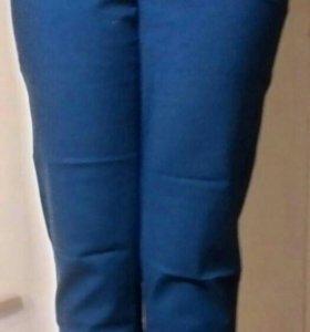 Брюки синие женские