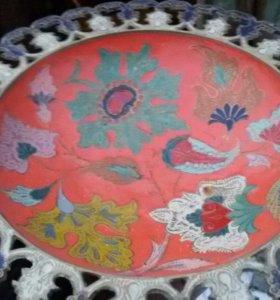 Тарелка из латуни