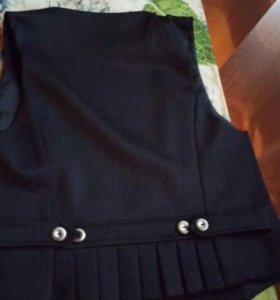 Костюм юбка+жилетка.