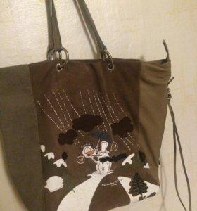 Замшевая женская сумочка