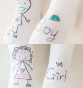 Новые детские носочки.