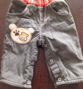 Теплые штанишки 3-6 месяцев