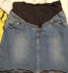 Джинсовая юбка для беременных