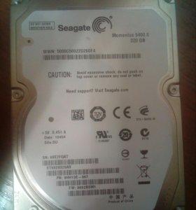 Sata диск seagate 2,5 на 320г