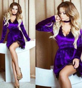 Платье новое лиловое