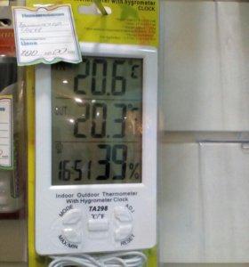 Термометр,часы