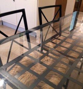 Комплект из Икеа стол и четыре стула, Гранос