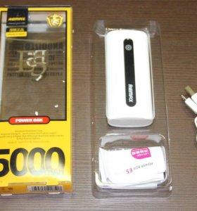 Внешний аккумулятор REMAX Power Bank 5000 mAh нов