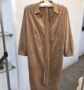 Платье замшевое ( новое)