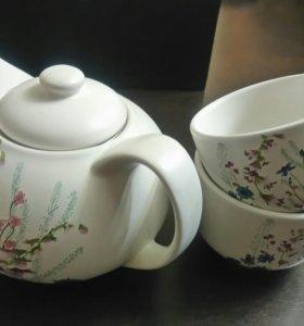 Заварочный чайник с пиалами подарочный