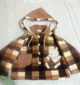 Тепленькая курточка весеняя на возраст 2 года