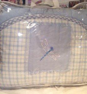 Бортики с балдахином в кроватку