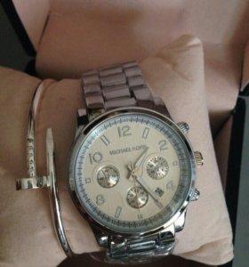 Стильные часы+браслет.