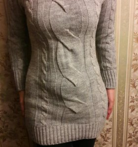 Длинный свитер. Весна-осень.