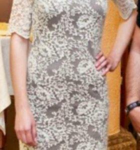 Платье из гипюра хs