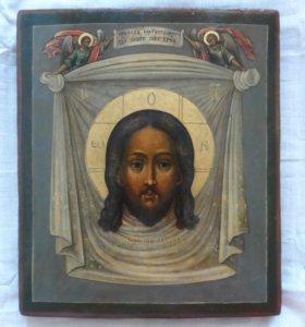 Старинная икона 19 век Спас