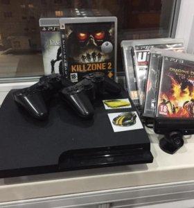 PlayStation 3 500GB + игры + 2 джойстика