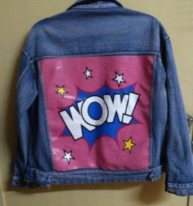 Куртка джинс. подростковая