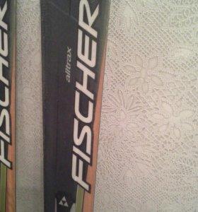 Лыжи горные Фишер. 165 см.