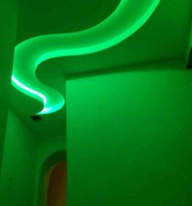 Потолки с мультимедийной подсветкой