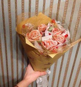 Букет декоративных цветов