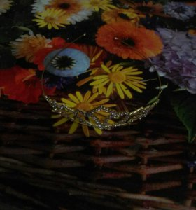 Свадебный ободок для фаты