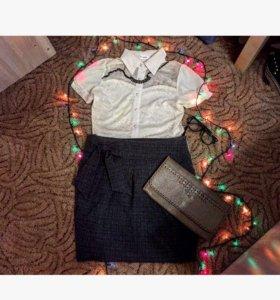 Блузка ,юбка ,клатч