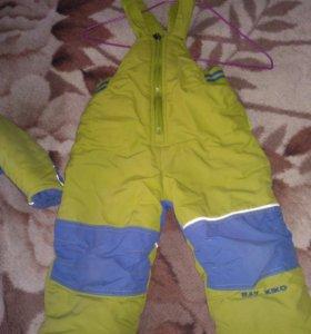 Зимний детский комплект штаны и куртка