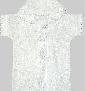 Крестильная рубашка с капюшоном