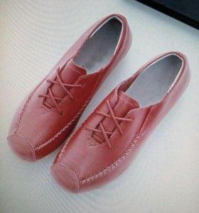 ботинки нат кожа 37р.