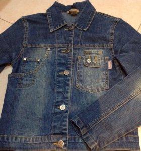 Джинсовая куртка на девочку рост140