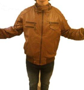 Куртка кожаная мужская, новая!