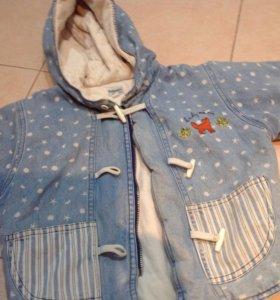 Куртка детская на девочку рост74