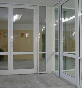 Алюминиевые окна двери и зимние сады