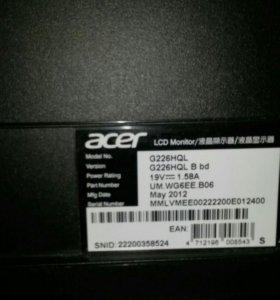 Монитор Acer G226HQLBbd на запчасти