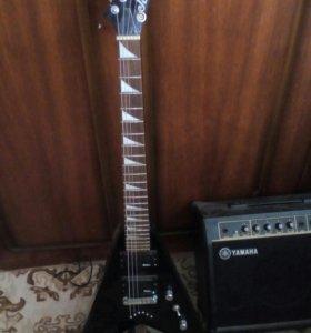 Электро гитара с усилитилем