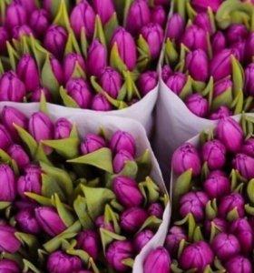 Тюльпаны и розы.70р 1 шт.