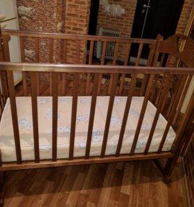 Детская кроватка с матрацем .ТОРГ