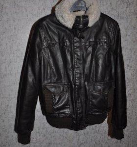 Куртка кожзам утеплённая