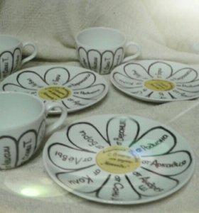 Декоративная роспись посуды