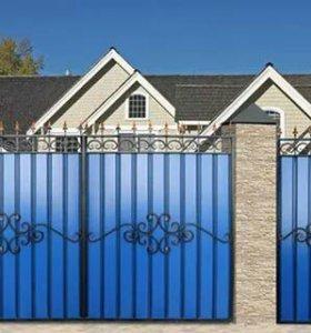 Двери на забор