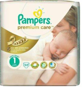 Подгузники Pampers premium care1