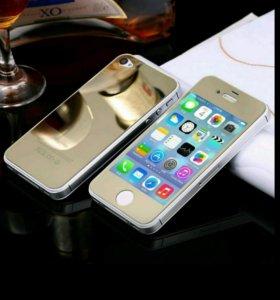 Закаленное Стекло на Iphone 6, 6s 2 в 1