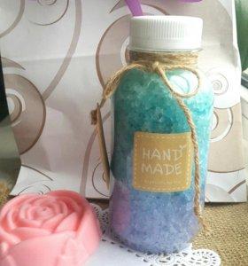 Подарочный набор мыло соль ручной работы