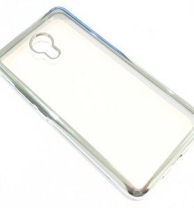 🔥 Стекло / Чехол с рамкой на Meizu M3 Note, сереб