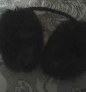 Большие наушники чёрные