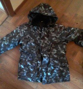 Комуфляжный зимний костюм курточка и ватники