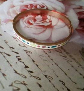 Модный браслет- обруч с эмалью